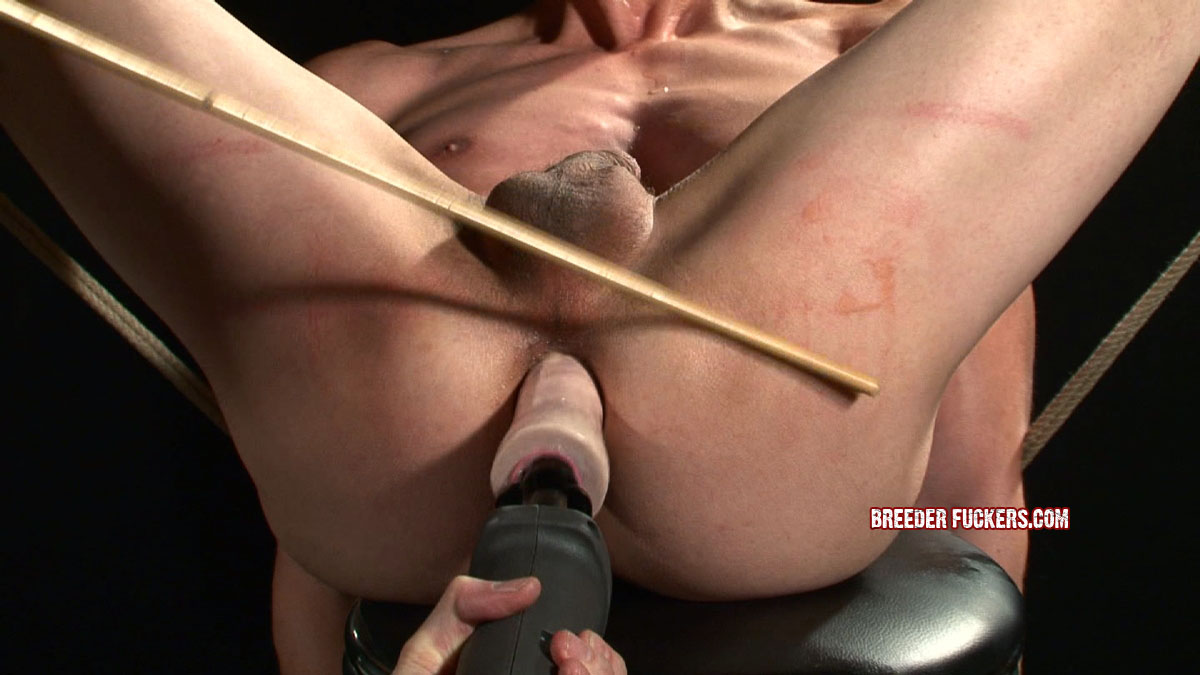 Gay bondage fucking fingering and eating cum