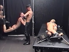 Slaves are chained, suspended and beaten