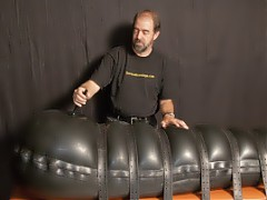 BLACK BLOWUP RUBBER BONDAGE AND MORE